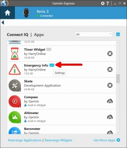 Changing the settings for a Garmin Connect IQ App - HarryOnline